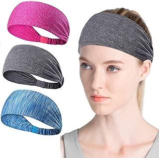 Brandom Workout Headbands for Women & Men, Cooling Headbands, Exercise Headbands, Sports Moisture Wicking Workout Sweatbands for Running, Cross Training, Yoga and Bike Helmet Friendly