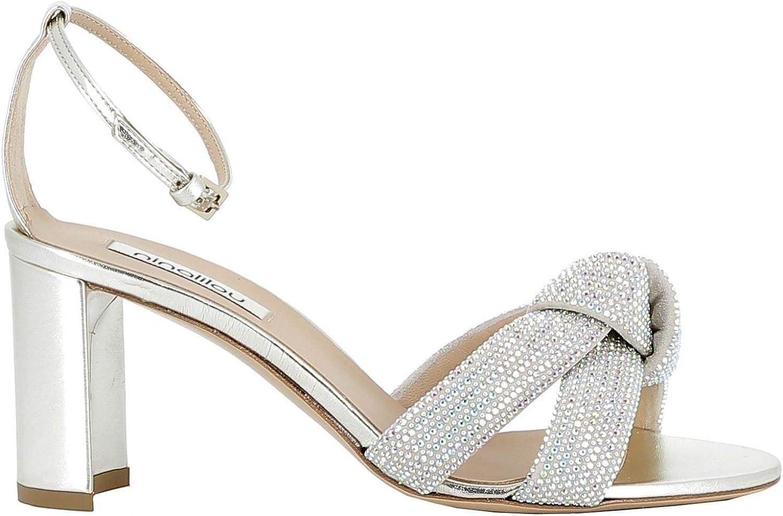 NINALILOU Luxury Fashion Damen 201079BA42 Silber Sandalen    Frühling Sommer 19  offizielle Genehmigung