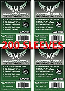 Mayday Games 7077 Clear Premium Card Sleeves 63.5x88 mm (4x50 Pack, 200 sleeves)