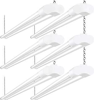 6 Pack LED Shop Lights for Garage 36W 4FT 48 Inch BBOUNDER 3600 Lumens LED Utility Shop Light Fixture LED Garage Lights for Workshop