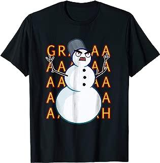 Angry Snowman T-Shirt for Christmas