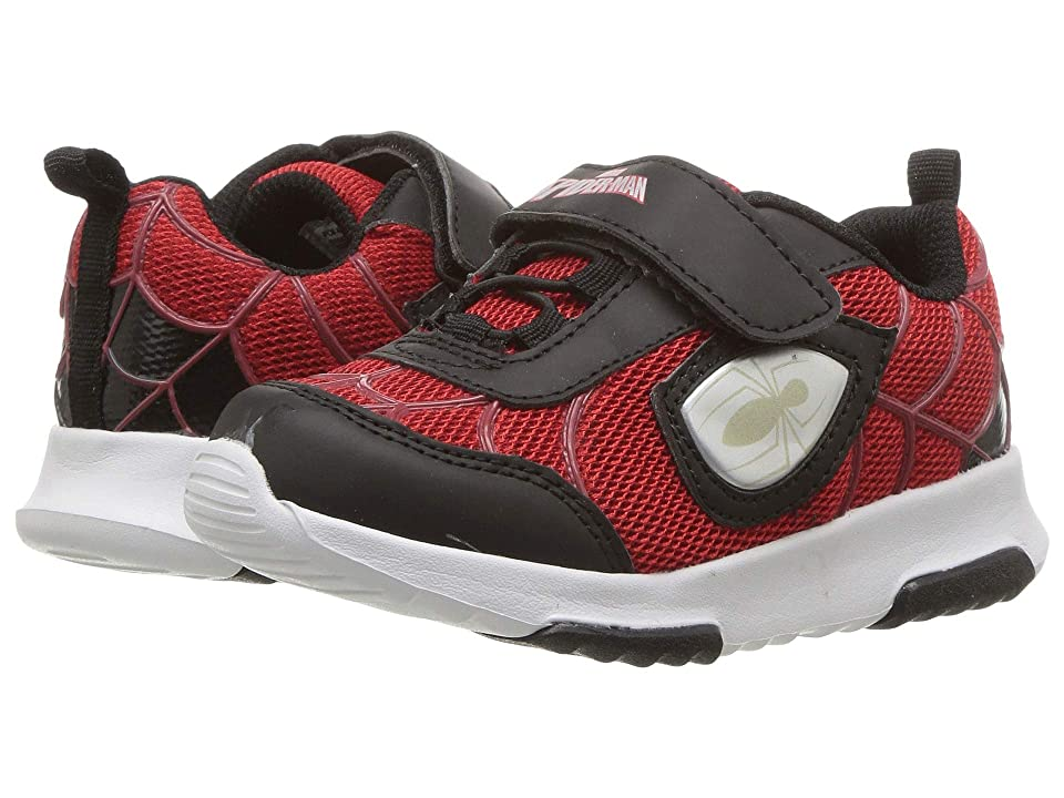 Favorite Characters SPF372 Spider-Mantm Lighted Sneaker (Toddler/Little Kid) (Red/Black) Boy