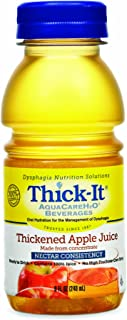 Thick-It Aquacare H2O Nectar Consistency Pre-thickened Apple Juice, 8 Ounce (Pack of 24)