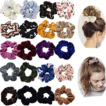 50 piece hair band black white red and navy hair elastic pony tail set