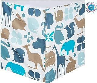 DwellStudio Percale Crib Skirt- Gio Aqua
