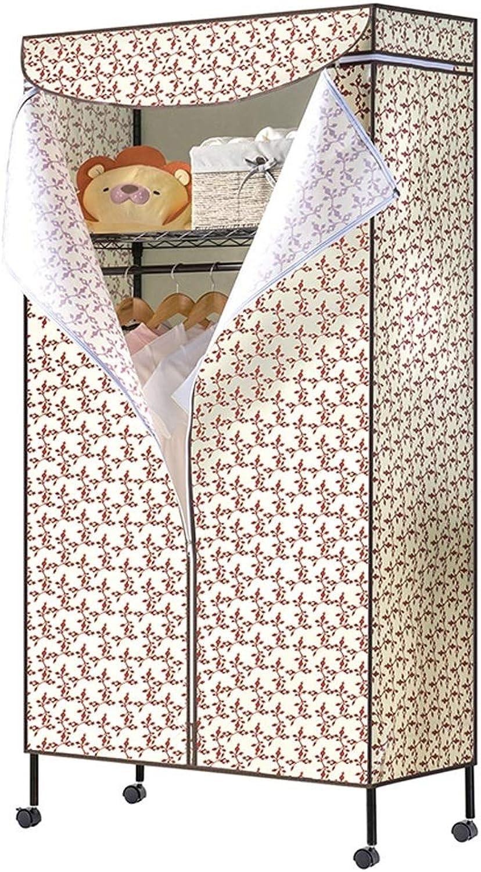 Hai Yan Boutique Cloth Wardrobe Cloth Wardrobe Simple Cloth Wardrobe Hanger Storage Clothes Small Single Dormitory (color   B)