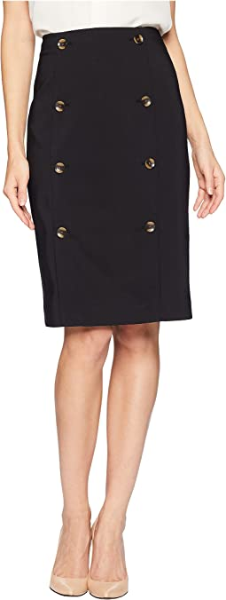 Pencil Skirt w/ Buttons