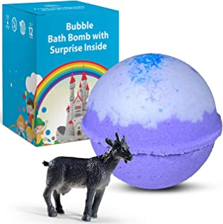 1 Natural Bath Bomb with FARM ANIMAL TOY Inside For Kids - Handmade Bath Bombs Safe For Kids