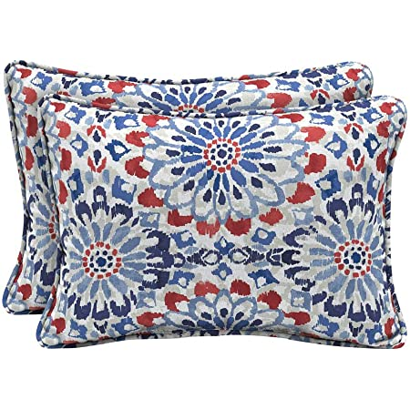 Amazon Com Arden Selections 22 X 15 Clark Oversized Lumbar Outdoor Throw Pillow 2 Pack Home Kitchen