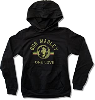 Zion Juniors Bob Marley One Love Black Hoodie Sweatshirt