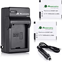 Powerextra 2 Pack 1400mAh Rechargeable Replacement Battery and Charger Compatible with GoPro HD Hero 2 Camera and GoPro AH...