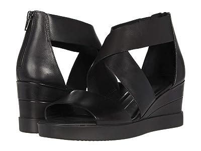ECCO Elevate Wedge Sandal (Black Cow Leather) Women