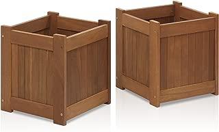 Furinno 2-FG16450 Tioman Hardwood Flower Box, Two-Pack, Natural