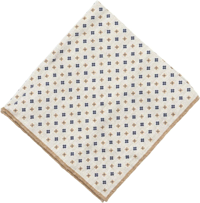 Eleventy Hand Stitched Floral Dot Pocket Square