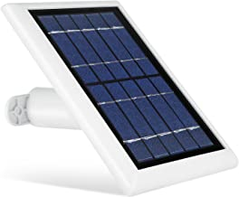 Solar Panel for Logitech Circle 2, Power Your Home Security Camera Continuously with Our Solar Charger – by Wasserstein (White)