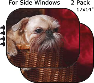 MSD Car Sun Shade - Side Window Sunshade Universal Fit 2 Pack - Block Sun Glare, UV and Heat for Baby and Pet - Image ID: 12941790 wailful Brussels Griffon