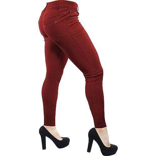 5bf5de90105fb Enimay Women's Colored Jean Look Jeggings Tights Spandex Leggings Yoga Pants