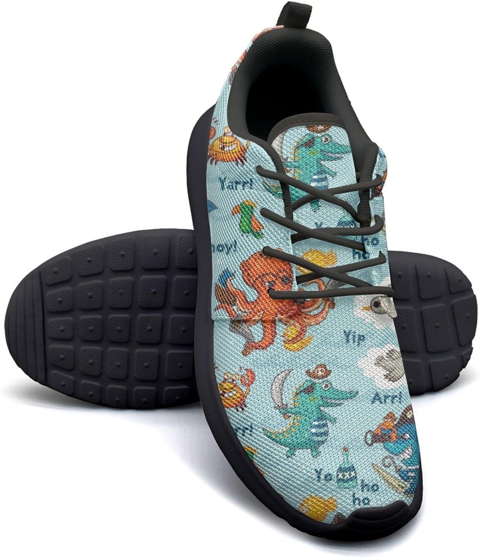 ERSER Pirate Animals Figure bluee Comfortable Running shoes for Women