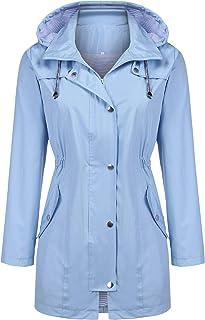 Zcfire Women Raincoat Waterproof Trench Coat Outdoor Windbreaker Long rain Jacket
