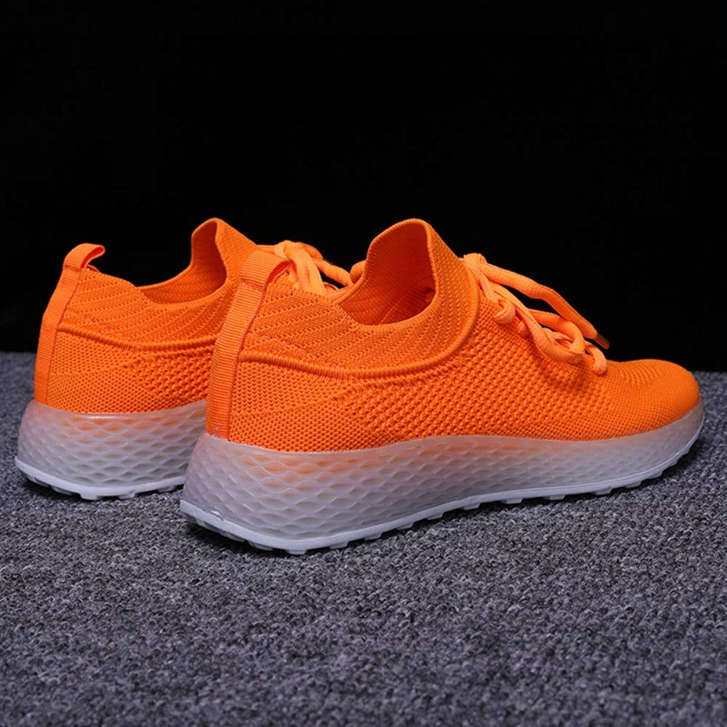 ZHIJINLI Sports shoes, casual students, single shoes, flying woven white shoes, mesh shoes, 6.5 SIZE