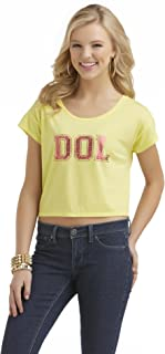Selena Gomez Dream Out Loud Yellow Red Foil Dol Crop Top