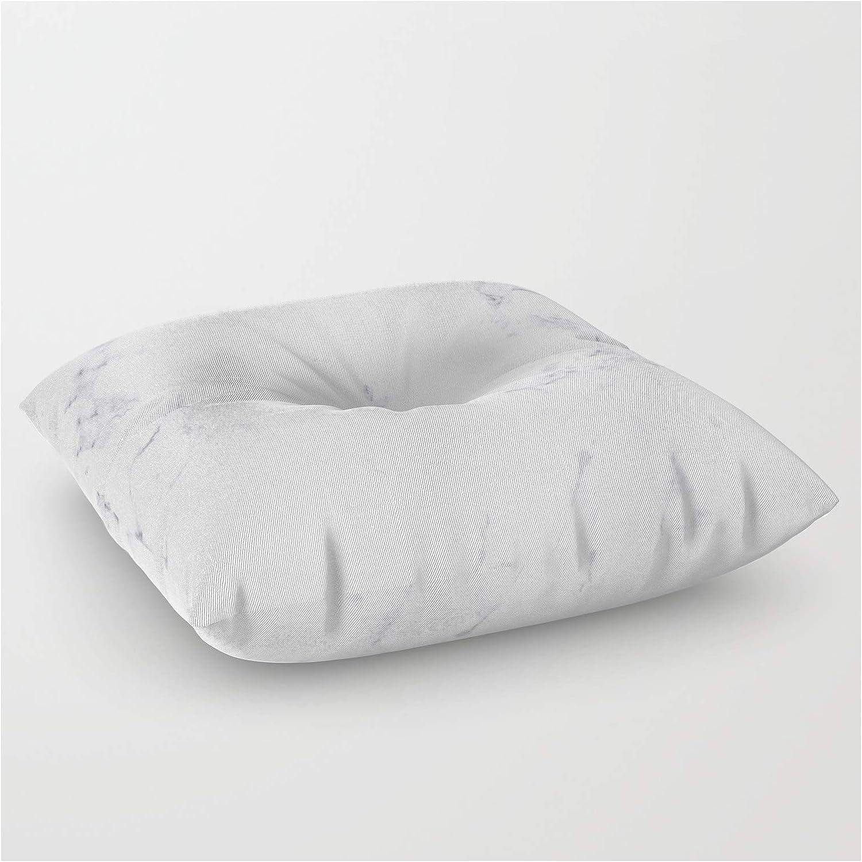 Society6 Luxury White Nashville-Davidson Mall Inexpensive Marble by Artonwear Squa on Floor Pillow -