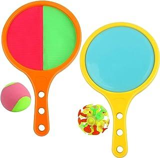 Edaick Toss and Catch Ball Game Set with 2 Balls,Double-Sided Racket Game Toss and Catch Game Play,Outdoor Indoor Parent-C...
