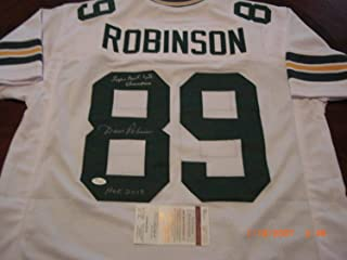 Dave Robinson Green Bay Packers HOF 13Sb IIi Champions JSA Autographed Signed Jersey - Certificate Included