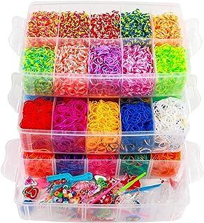 Mumoo Bear 15000 Rubber Bands Kit, Bracelet Making Set, Kids Art Crafts Jewelry Starter Kit with Storage Cases