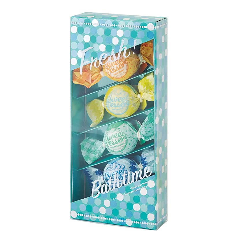 アマイワナ バスキャンディー4粒ギフトセット フレッシュ (発泡入浴料 バスギフト)