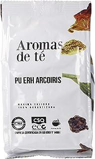 Aromas de Té | Té Rojo Pu Erh Arcoiris 100 gr | Té Rojo con Cardamomo, Canela, Trozos de Manzana, Trozos de Naranja, Clavo...