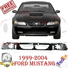 New Front Bumper Header Panel ABS Plastic Black For 1999-2004 Ford Mustang Coupe Base/GT Equipado Convertible 2-Door Direct Replacement FO1221119 3R3Z8A284AA