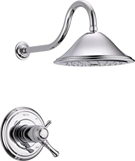 Delta Faucet Cassidy 17T Series Dual-Function Shower Trim Kit with Single-Spray Touch-Clean Shower Head, Chrome T17T297 (V...