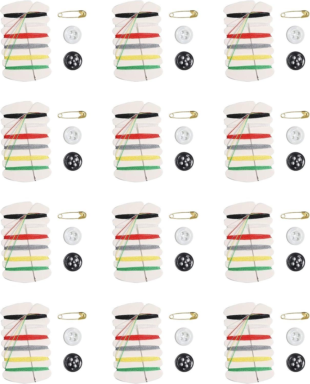 Sowaka 12 Pcs Sewing Kit Emergency New mail order Max 90% OFF Thread Portable Small Repair