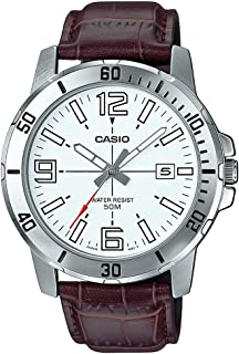 Casio MTP-VD01L-7BV Men's Enticer Stainless Steel White Dial Casual Analog Sporty Watch