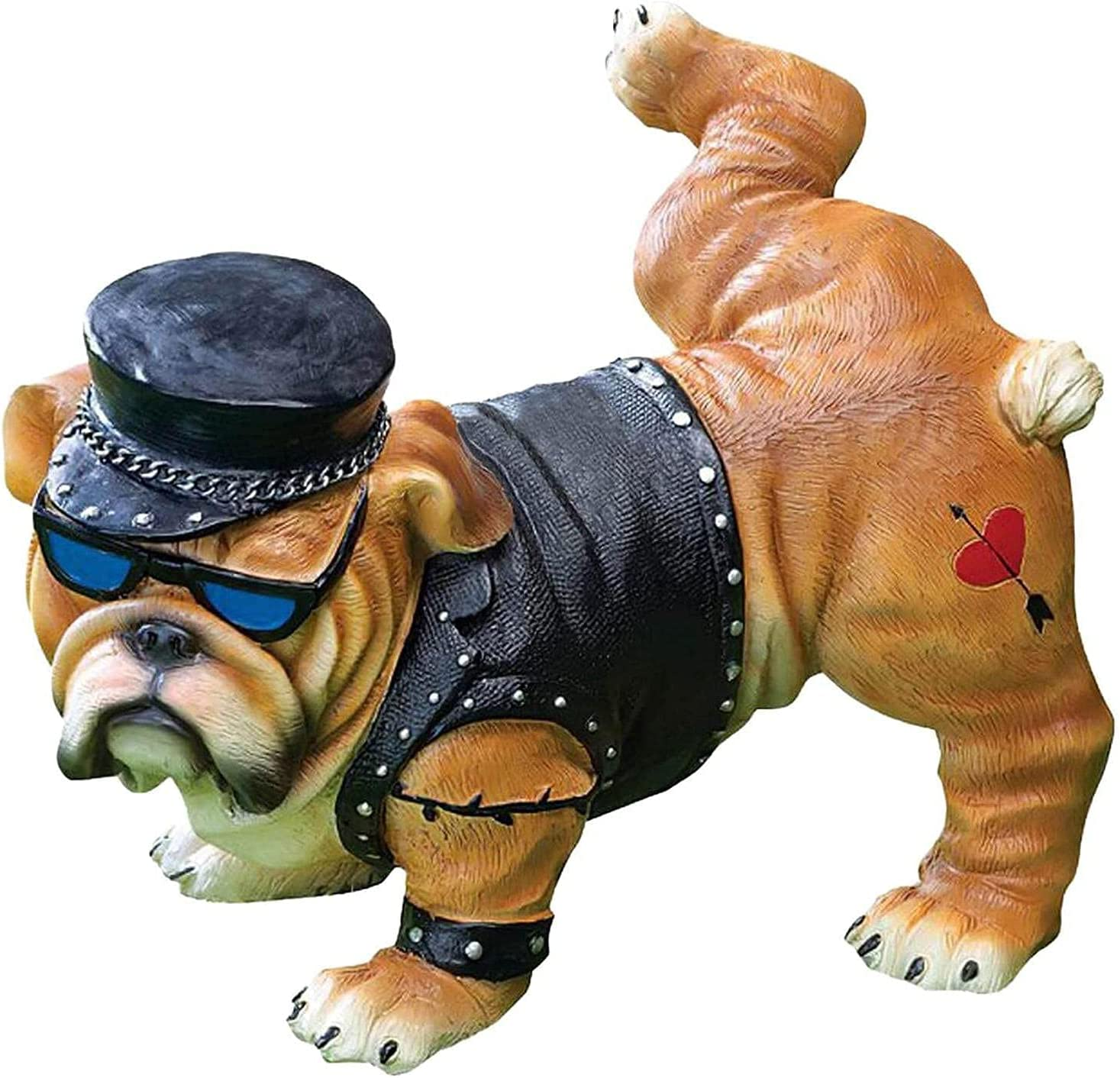 badewanne Peeing Dog Statue Bulldog Philadelphia Mall Max 52% OFF Ornaments Creative Figurines