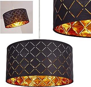 comprar comparacion Iluminación de techo Meldal de tela en negro y oro, lámpara de techo con forma redonda, para salón, dormitorio, comedor, c...