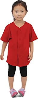 Kids Baseball Jersey Button Down T Shirts Active Uniforms