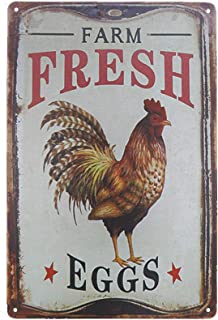 chicken art tin signs