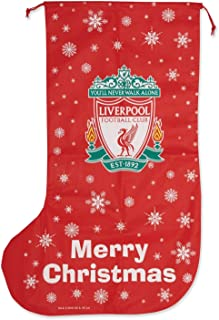 Liverpool FC Novelty Christmas Jumbo Present Stocking (One Size) (Red)