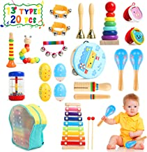 TIKTOK Kids Musical Instruments Baby Musical Toys 13 Types 20pcs Percussion Instruments Toy for Kids Preschool Educational...