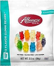 Albanese Candy, Sugar Free 12 Flavor Fruit Gummi Bears, 3.5 oz. Bag (Pack of 12)