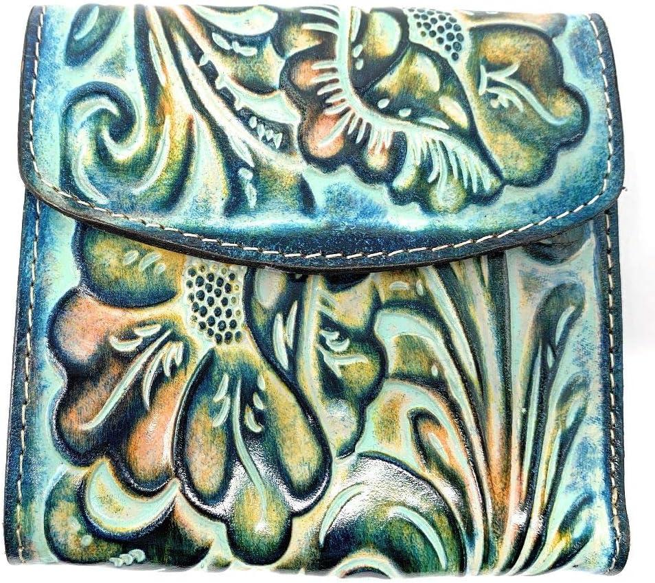 Patricia Nash Women's Leather Reiti Bifold Wallet, Turquoise Multi