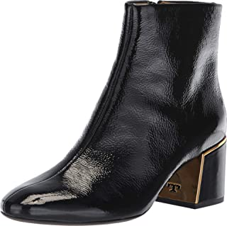 Womens Juliana Leather Patent Tumbled Booties