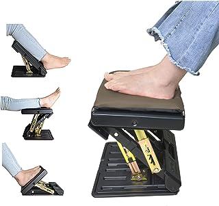 SurmountWay Fußstütze mit Abnehmbarer, weicher Fußstütze, maximale Tragkraft 55 kg, mit Massage-Perlen für Auto, unter dem...