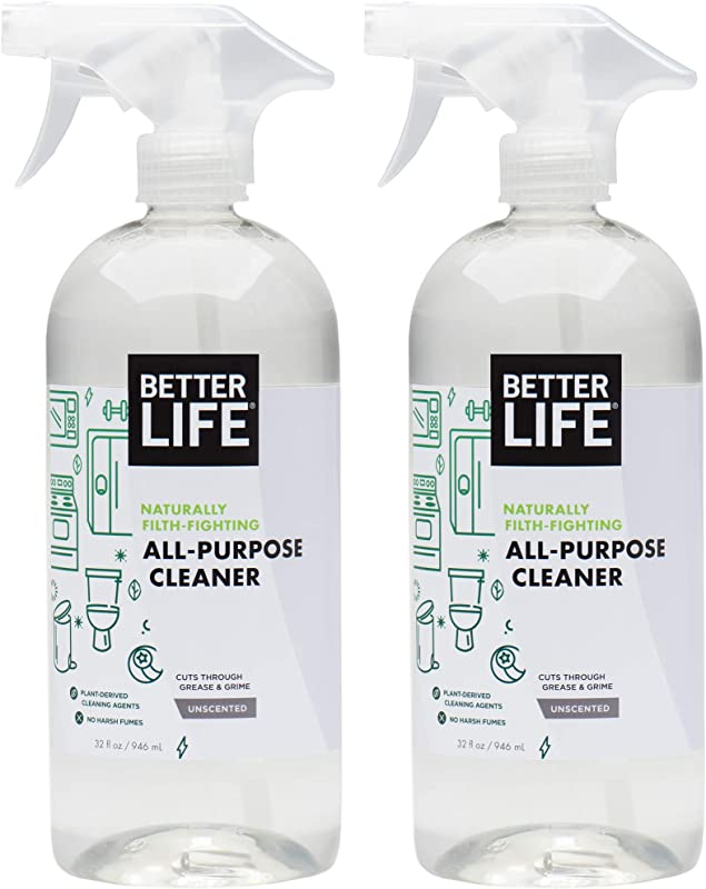 Better Life Natural All Purpose Cleaner Safe Around Kids Pets 32 Ounces Pack Of 2 2409C