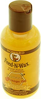 Howard FW0004 Feed-N-Wax Wood Polish and Conditioner, 4.7-Ounce