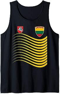 Lithuania Basketball Jersey Lietuva Soccer Flag Gift  Tank Top