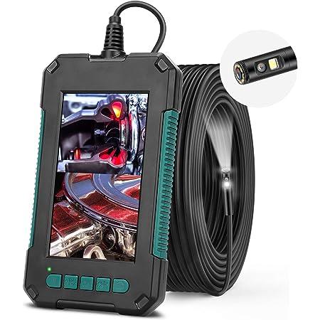 Endoskopkamera Rumia Dual Kameras Endoskopkamera Mit 8 Leds Ip67 Wasserdicht Licht 4 3 Zoll Bildschirm Endoskop 1080p Rohrkamera Inspektionskamera Mit 5 Meter Halbsteif Kabel Enthält 32g Tf Karte Gewerbe Industrie Wissenschaft