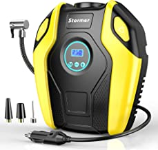 Tire Inflator, STORMER Air Compressor Pump, 12V DC Portable Auto Tire Pump with Digital Display up to 151PSI for Car, Bicycle and Other Inflatable …